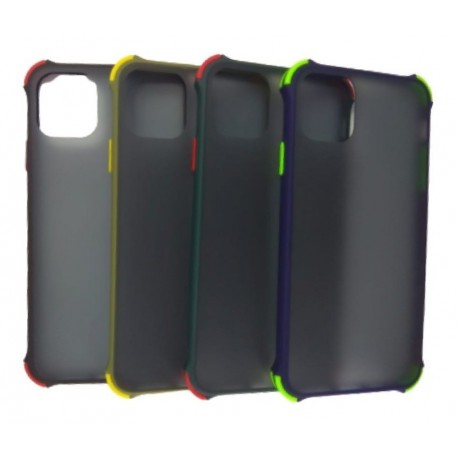 Funda Protector Esquina Traslucida Mate iPhone 11 Pro Max (Entrega Inmediata)