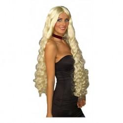 ! Peluca 100cm Brave Negra Mesmerelda Rizada Halloween! (Entrega Inmediata)