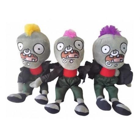 Plantas Vs Zombies Peluche (zombie Punk). 28 X 12 Cm (Entrega Inmediata)