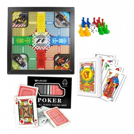 Set De Juegos Parques, Poker, Naipe Envio Normal Cuarentena (Entrega Inmediata)