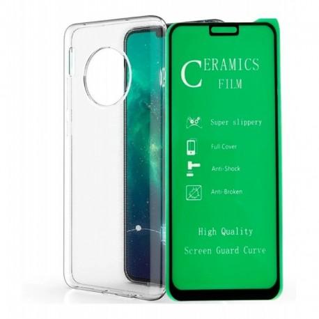 Estuche Clear + Película Protectora Huawei Mate 30 Pro (Entrega Inmediata)