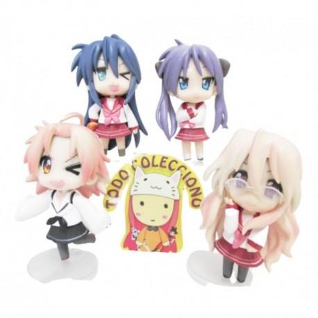 Set De Figuras Anime Importadas Lucky Star (Entrega Inmediata)