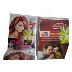 Shampoo Tinte Pinta Canas 15 Min Brown Red X Unidad (Entrega Inmediata)