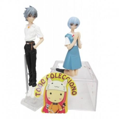 Set 2 Figuras Anime Evangelion Rey Ayanami Y Kaworu Nagisa (Entrega Inmediata)