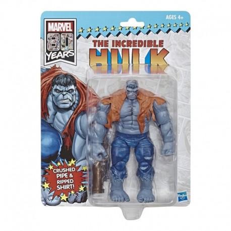 Marvel Legends 80 Años Vintage Grey Hulk Figura Hasbro Nueva (Entrega Inmediata)