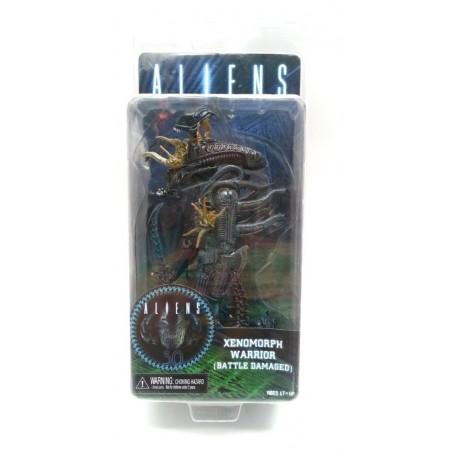 Aliens Blue Xenomorph Warrior Battle Damaged Figura Blister (Entrega Inmediata)