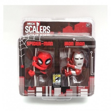 Marvel Exclusivo Sdcc 2014 Iron Man & Spiderman Scalers Neca (Entrega Inmediata)