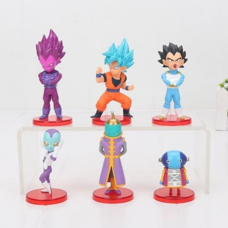 Wcf Dragon Ball Vegeta Colección X 6 Figuras En Caja (Entrega Inmediata)