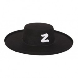 Sombrero Bandido El Zorro Fino Disfraz Elegante Halloween (Entrega Inmediata)