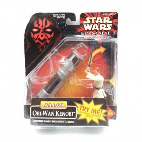 Star Wars Episode I Deluxe Ben Obi Wan Kenobi Figura Hasbro (Entrega Inmediata)