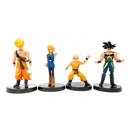 Dragon Ball Z Bardock Colección X 4 Figuras En Bolsa (Entrega Inmediata)