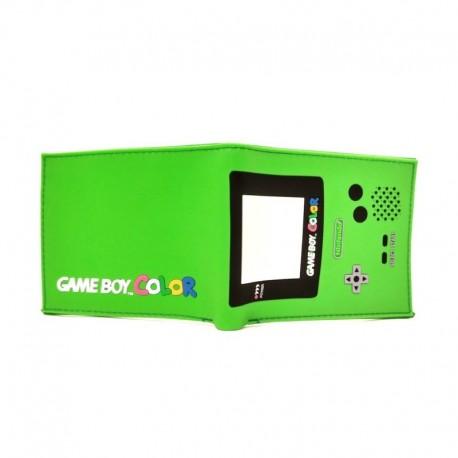 Nintendo Gameboy Color Billetera En Goma Verde (Entrega Inmediata)