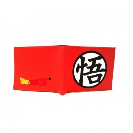 Dragon Ball Z Logo Billetera Naranja En Goma (Entrega Inmediata)
