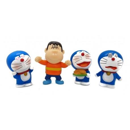 Doraemon Colección X 4 Figuras En Bolsa (Entrega Inmediata)