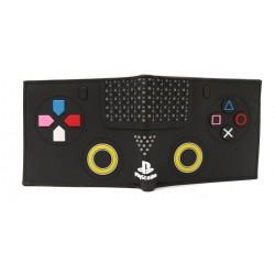 Playstation Billetera En Goma De Caucho Negra (Entrega Inmediata)