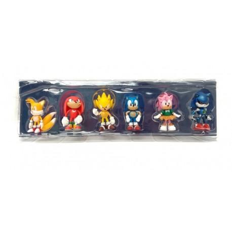 Sonic The Hedgehog Colección X 6 Figuras En Caja (Entrega Inmediata)