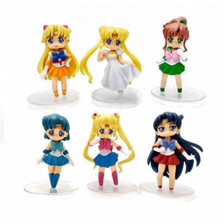 Sailor Moon Colección 6 Figuras En Bolsa (Entrega Inmediata)