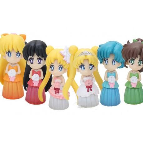 Sailor Moon Tsukino Usagi Colección 6 Figuras En Bolsa (Entrega Inmediata)
