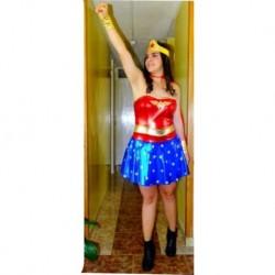 Disfraz Mujer Maravilla Halloween (Entrega Inmediata)