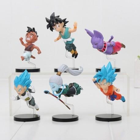 Kit De 6 Mini Figuras Dragon Ball Supero Estilo Volador (Entrega Inmediata)