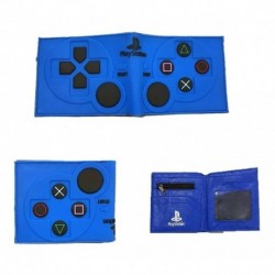 Billetera Playstation Azul En Goma (Entrega Inmediata)
