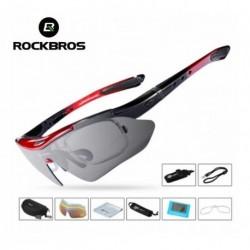 Gafas Ciclismo Rockbros Uv400 Cinco Lentes Intercambiables (Entrega Inmediata)