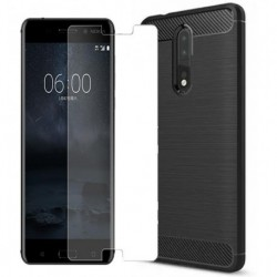 Carcasa Forro Estuche Nokia 8 + Vidrio Full Entrega Inmediat (Entrega Inmediata)
