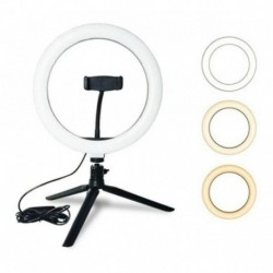 Aro De Luz 30cm Led Ring Fill Light + Tripode De Escritorio (Entrega Inmediata)