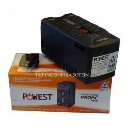 Regulador De Voltaje De 1000 Va Propc Powest Iva Incluido (Entrega Inmediata)