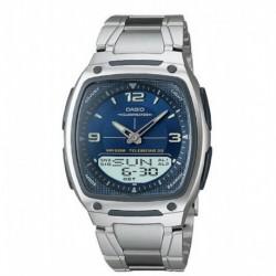 Reloj Casio Aw-81d Resiste Agua 50 M Acero Original Garantía (Entrega Inmediata)