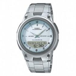 Reloj Casio Aw-80-7av Acero Resiste Agua Original Garantía (Entrega Inmediata)