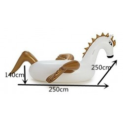 Flotador Piscina Jigante Unicornio Pegaso 250x250x140cm (Entrega Inmediata)