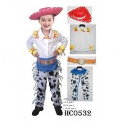 Disfraz Niña Vaquero Woody Toy Story Halloween (Entrega Inmediata)