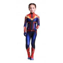 Disfraz Niña Capitana Marvel Niña Halloween (Entrega Inmediata)