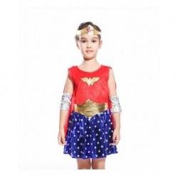 Disfraz Mujer Maravilla Niña Hallowen (Entrega Inmediata)