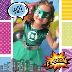 Disfraz Linterna Verde Niña Halloween (Entrega Inmediata)