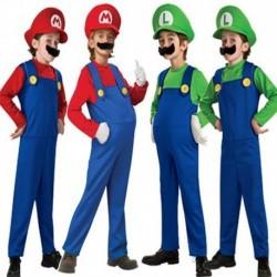Disfraz Mario Bross Luigi Niña Niño Bebe Halloween (Entrega Inmediata)