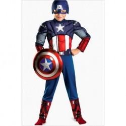 Disfraz Avengers Capitan America Musculos Halloween (Entrega Inmediata)