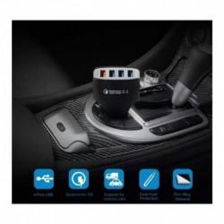 Cargador Celular Carro Auto Rápida 4 Puertos Premiun Lz-kc08 (Entrega Inmediata)