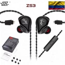Audífonos In Ears Originales Kz Zs3 Garantizado Exclusivo (Entrega Inmediata)