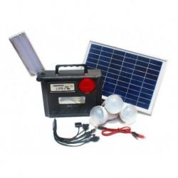 Kit Panel Solar + 3 Bombillo + Batería 7.5 Amp Radio Mp3 Usb (Entrega Inmediata)