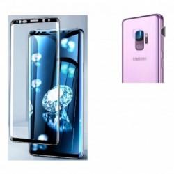 Kit Protector Vidrio Full Glue Samsung Galaxy S9 + Lente Cam (Entrega Inmediata)