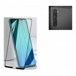 Kit Protector Metal Lente Cámara Xiaomi Note 8 + Vidrio 9d (Entrega Inmediata)