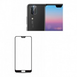 Kit Vidrio Curvo 3d + Protector Lente Camara Huawei P20 Lite (Entrega Inmediata)