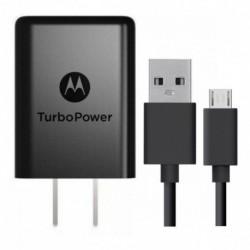 Cargador Motorola Micro Usb Turbo Power Carga Rapida 3a (Entrega Inmediata)