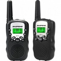 Radios Mini Walkie Talkies Baofeng Bf T3 X 2 Unidades Negro (Entrega Inmediata)