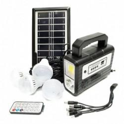 Kit Panel Solar + 4 Bombillos + Luz Power Bank Radio Autos (Entrega Inmediata)