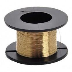 Hilo Alambre Color Oro Baku Para Despegar Táctiles 0.08mm (Entrega Inmediata)