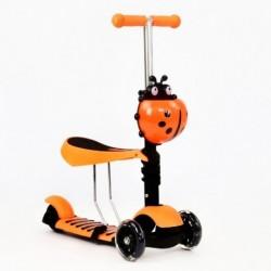 Patineta Scooter 3 En 1 Infantil Asiento Gt-4110b Naranja (Entrega Inmediata)