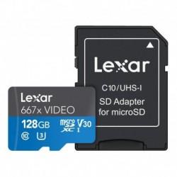 Memoria Micro Sd Lexar 128 Gb V30 U3 667x Video (Entrega Inmediata)